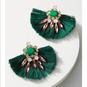 NWT Anthropologie prunella fanned drop earrings